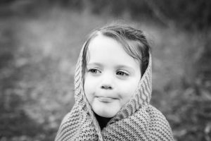 Warrnambool family photography little girl wrapped in blanket