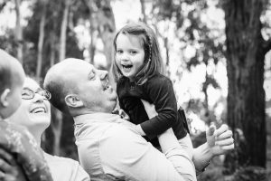 Warrnambool family photography dad and daughter playing