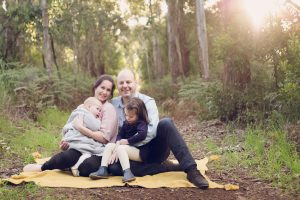 Warrnambool family photography in gum tree setting