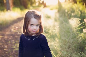 Warrnambool family photography little girl at sunset